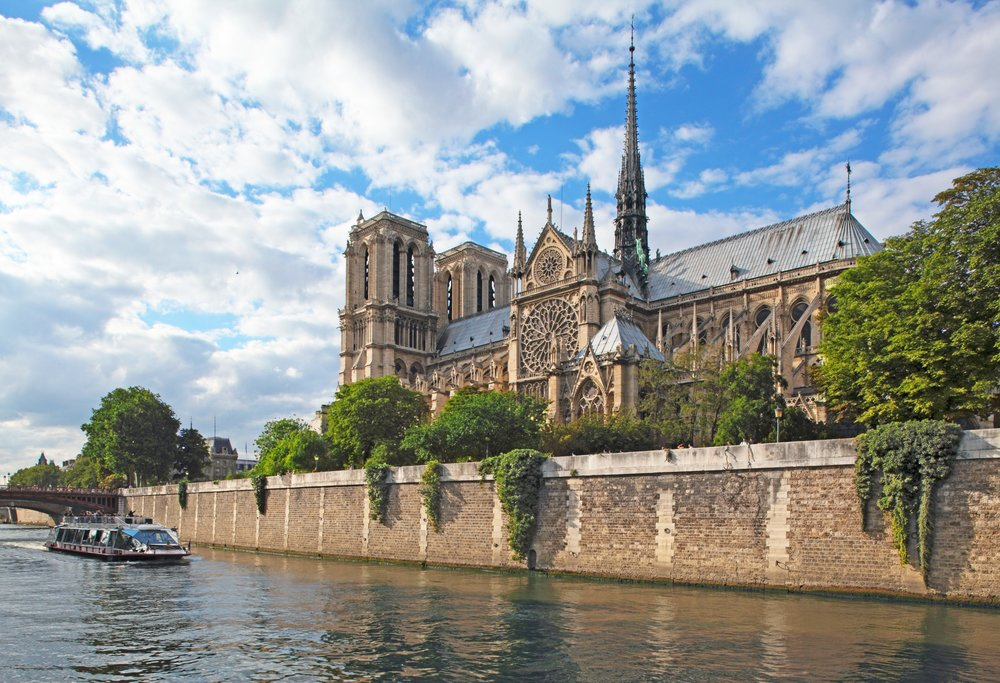 Paris - Notre Dame Cathedral - Architect Maurice De Sully