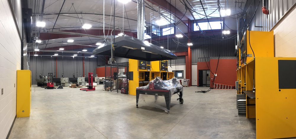 Photo showing welding lab in Technology and Innovation Center
