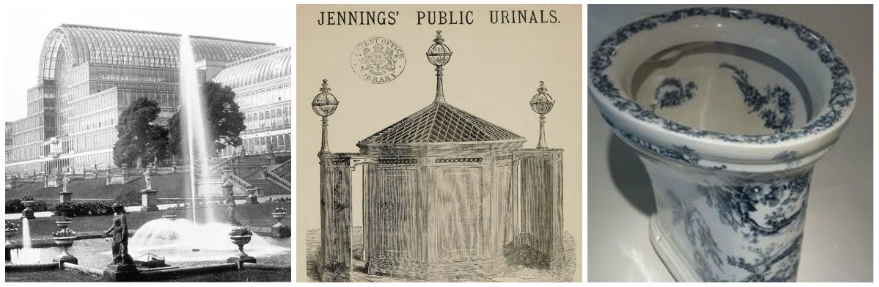 George Jennings invented the first public flushing toilet and installed it in London in 1851.