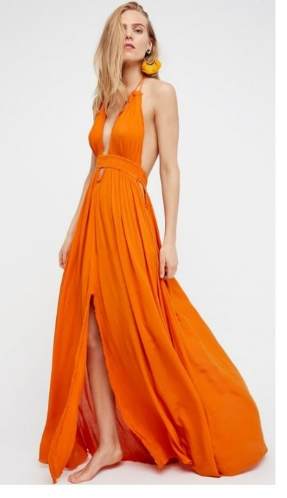 The summertime is full of outdoor festivals and you need something airy and free flowing. This dress from Free People is so comfortable and beautiful. For the ladies who are vertically challenged like myself you will need to get it hemmed.