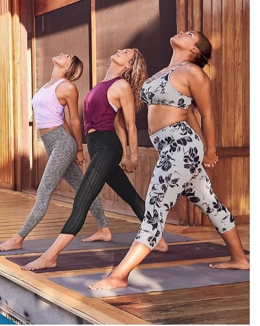 I live for the Chaturanga pants by Athleta. They have a high waist that engages your core and pass the toe touch test every time!!!