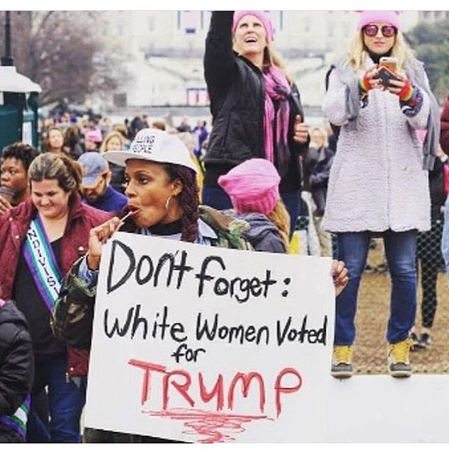 In honor of the women's march........... won't go into a long post about my opinion to not participate. Just reposting one of the key images that lead to key articles and discussions about the black women and our need to be apart, support, encourage then are left in the back of the line. Fact: black women are the most educated group in the U.S. . Fact: Black women are paid less than their counterparts. This isn't our fight but enjoy your March. It's a nice day out. ✌🏽I'm just saying.