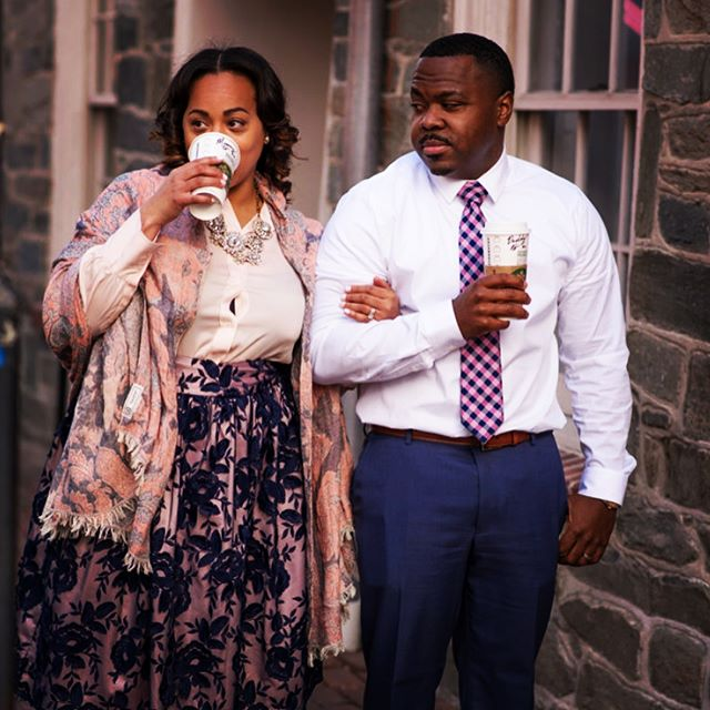 Me: I'm just going to sip my tea  Justin: Go ahead and say it you know you want too..... Happy Easter from the Hintons!!! Justin, Aisha and Baby Hinton 👶🏾🎊🎉🎊🎉 #WeAreExpecting #PartyOfThree #ForThisChildWeHavePrayed 📸 @armintamckinneyphotography