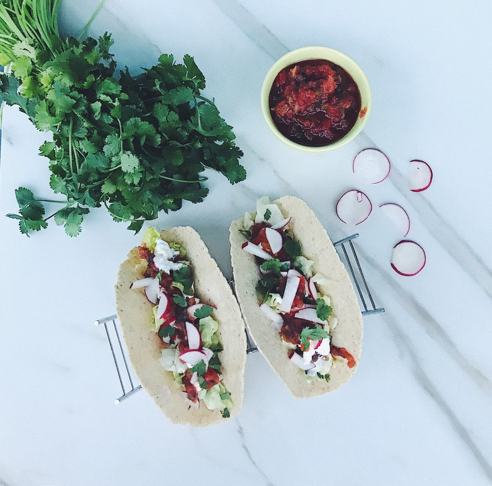 easy low carb chicken tacos