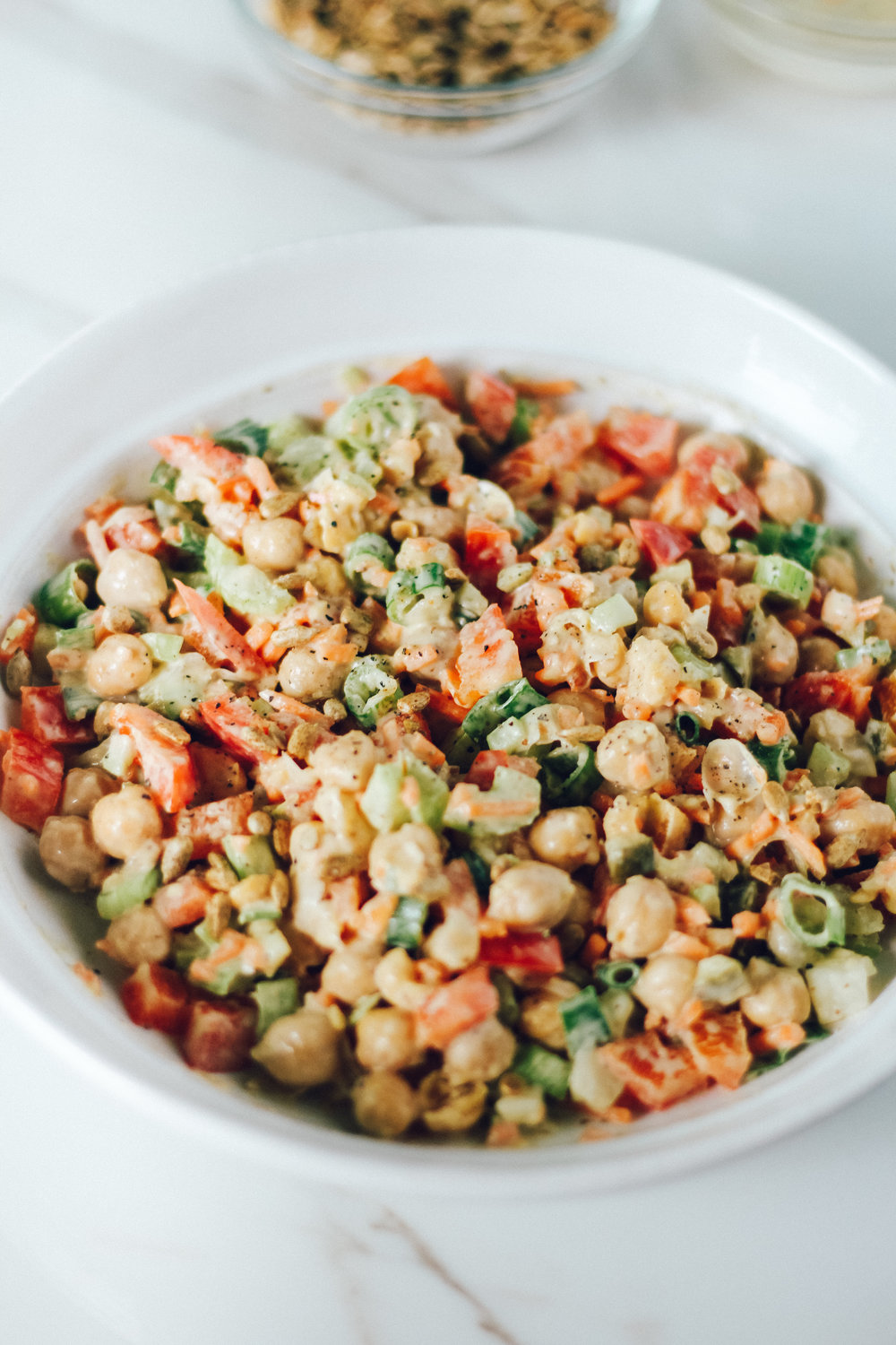 Healthy Chickpea salad meal prep 3 ways Live Well and Grateful