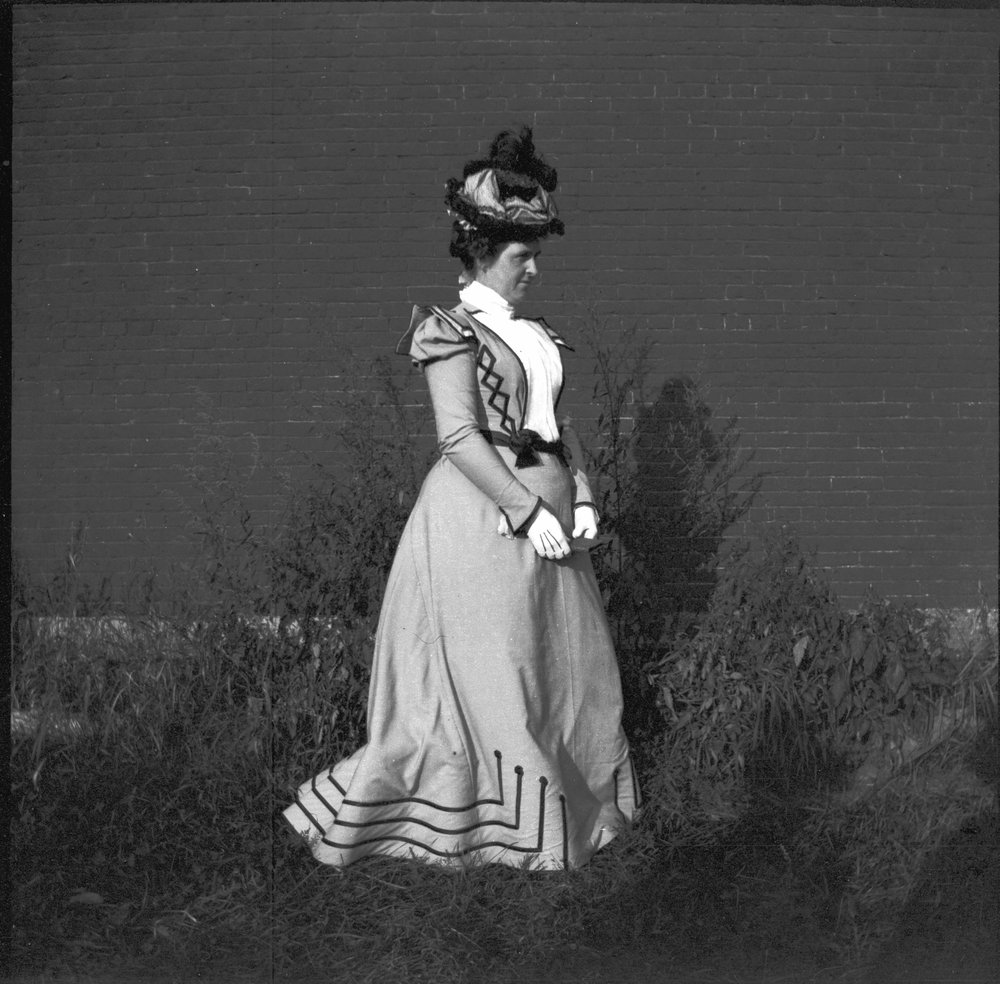 Founding member of the Camden Garden Club, Mary Elizabeth Parker Talbot photographed near her home in 1898.