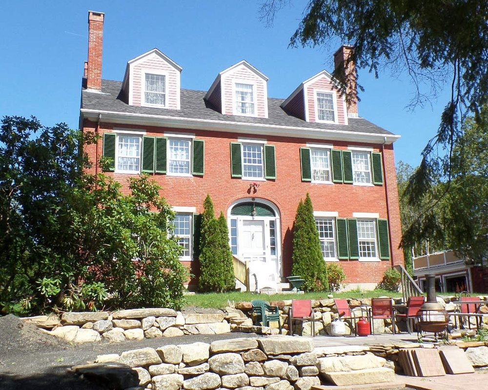 """ Red Chimneys,"" home of Mrs. Parker Talbot and the location of the first meeting of the newly formed Camden Garden Club  ."