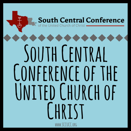 Link to Main Website  - The South Central Conference of the United Church of Christ is a partnership of congregations, associations, and ministries of the United Church of Christ throughout Texas, Louisiana and Mississippi. From urban to rural, large to tiny, multicultural to ethnic, the SCCUCC is a tapestry of God's beautiful diversity.
