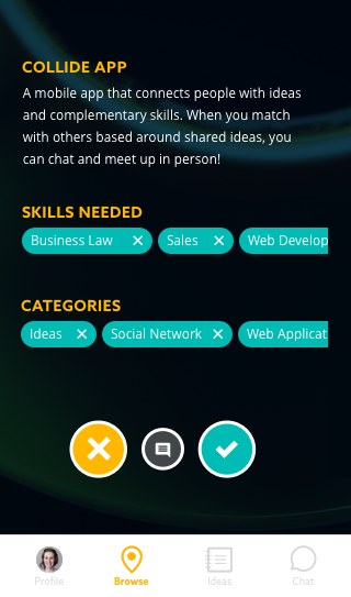 Draft and share ideas with others nearby -