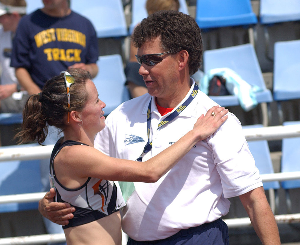 Fortunate to have worked with legendary coach, Mike Van Tighem, for the best part of 25 years - as we navigation through high school sports to post-collegiate racing.  This photo, from 2004 was following my race in Victoria after winning the 1500m Olympic Trials in 4:04 and being selected to the Olympic team.