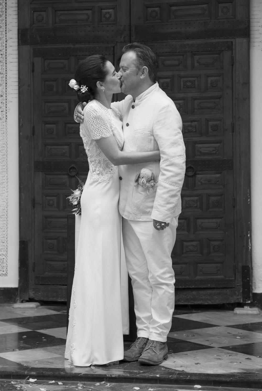 white column wedding dress