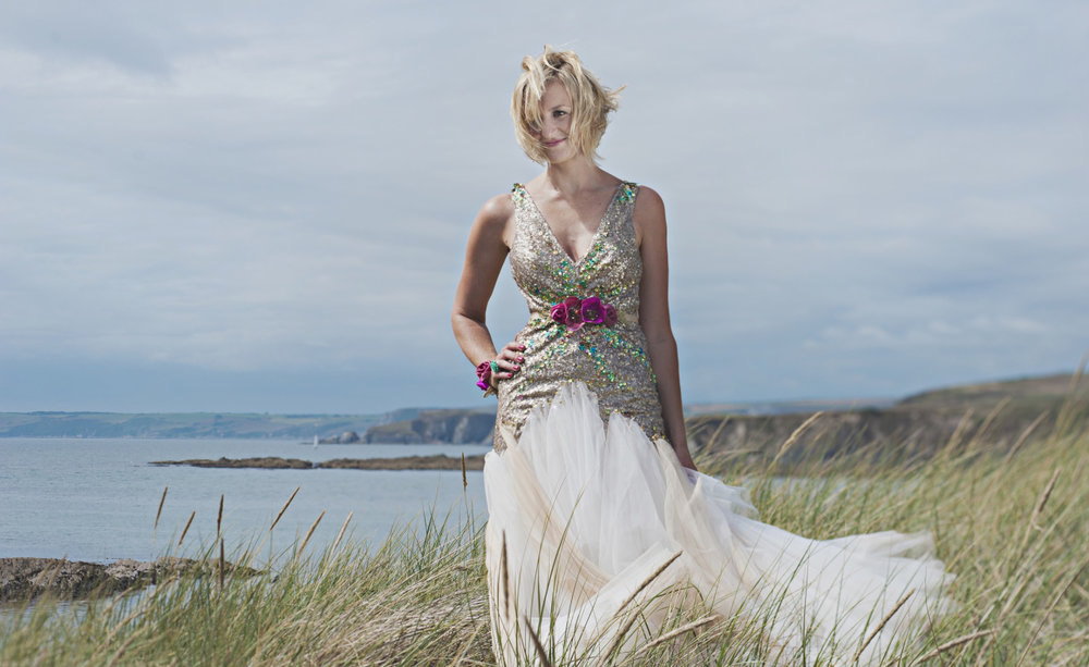 Mermaid Boho wedding dress