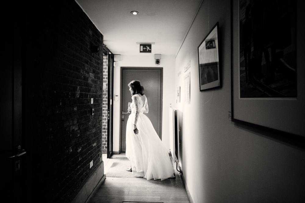 flowing organza wedding dress