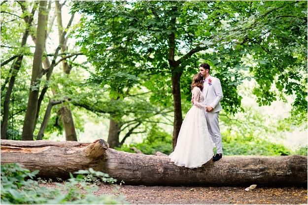 printed floral white wedding dress