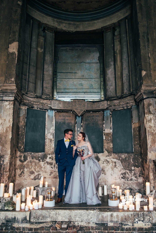silver grey crystal crinoline pannier wedding dress the asylum