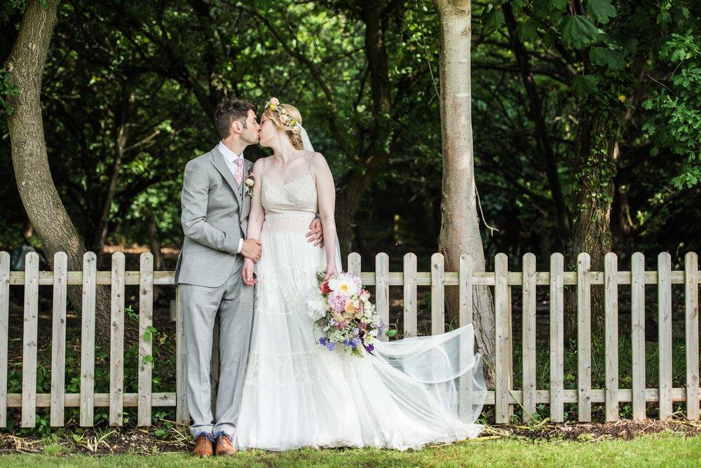 lace and chiffon flowing wedding dress ballerina style