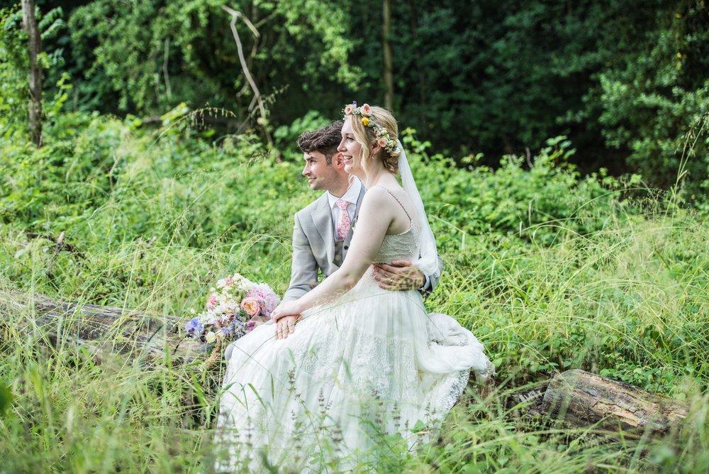 woodland wedding dress