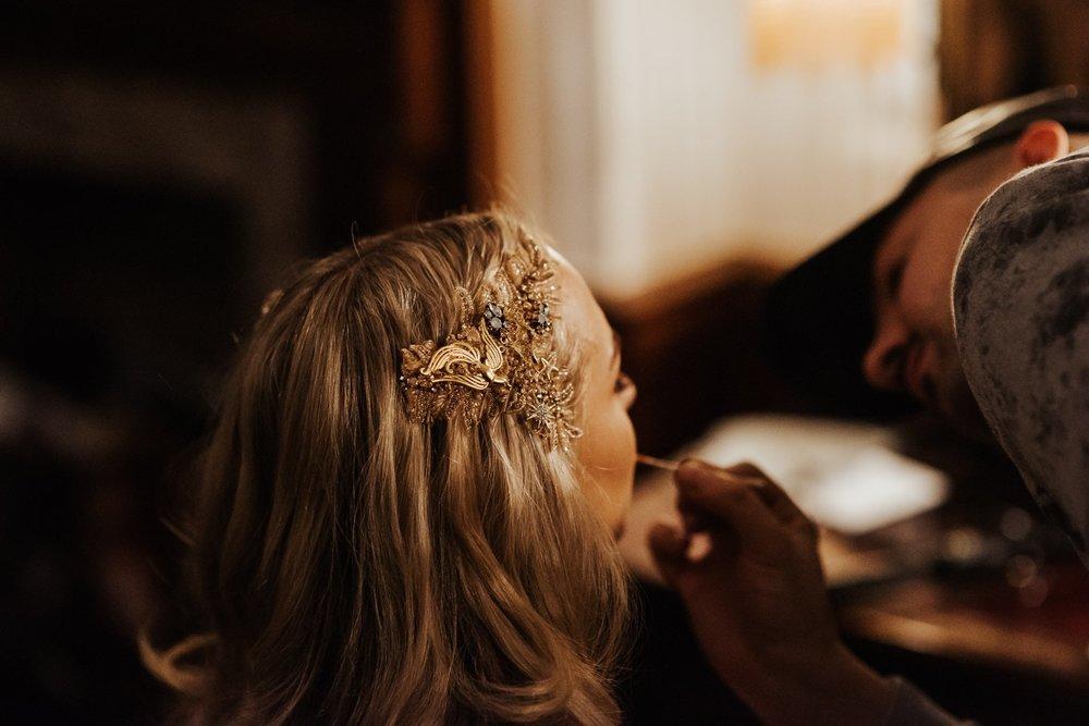 Gold crystal bridal hair accessory