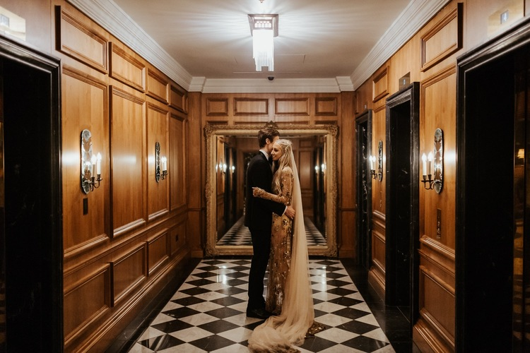 gold lace bridal wedding veil