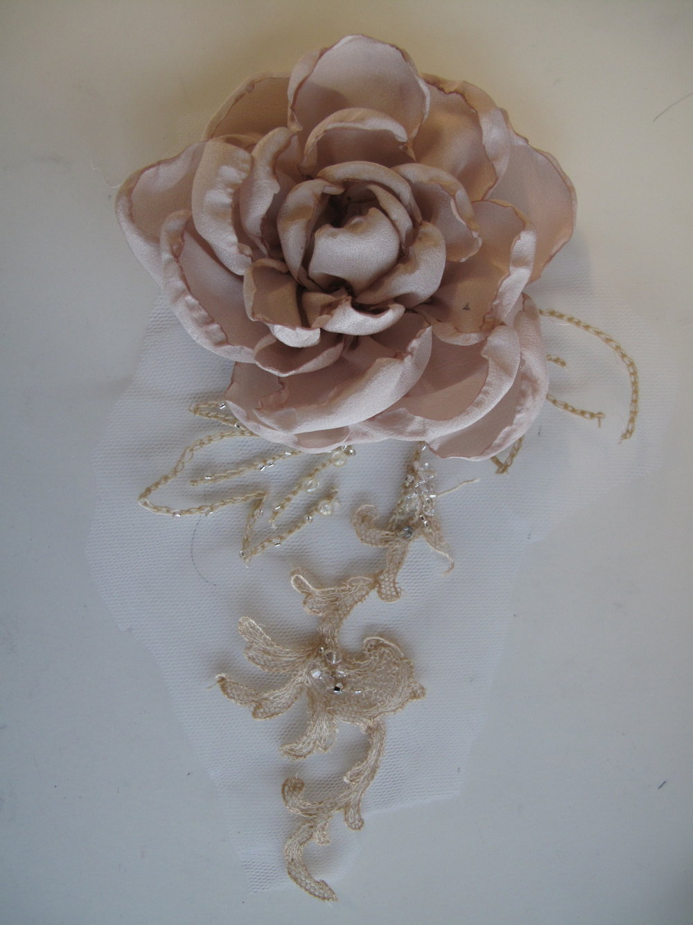 silk flower peony corsage