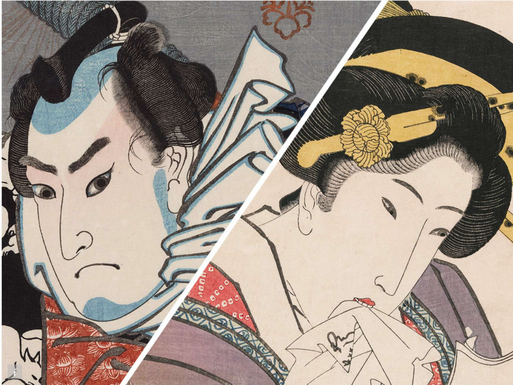 Boston's Museum of Fine Arts showcases masterful woodblock prints by two rival artists.