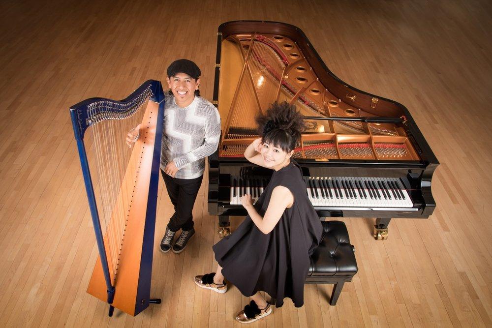 Hiromi and Edmar Castaneda. Photo by Muga Miyahara.