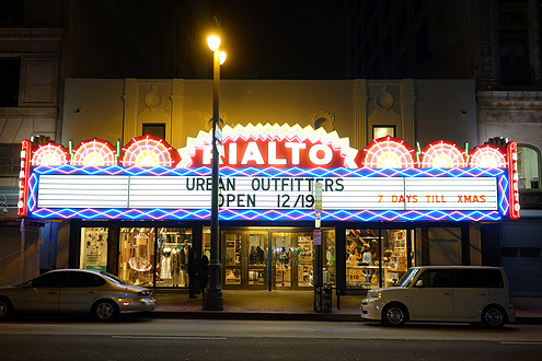 THE RIALTO THEATRE   In 2013, after many years of disrepair, the historic Rialto Theater was renovated to house the international retailer Urban Outfitters. Urban Outfitters has also restored the historic marquee, the most significant feature of the original theater...  READ MORE