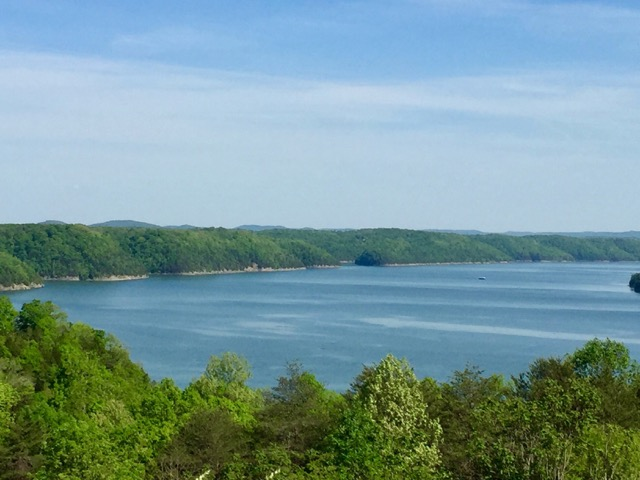Overlooking Lake Cumberland.