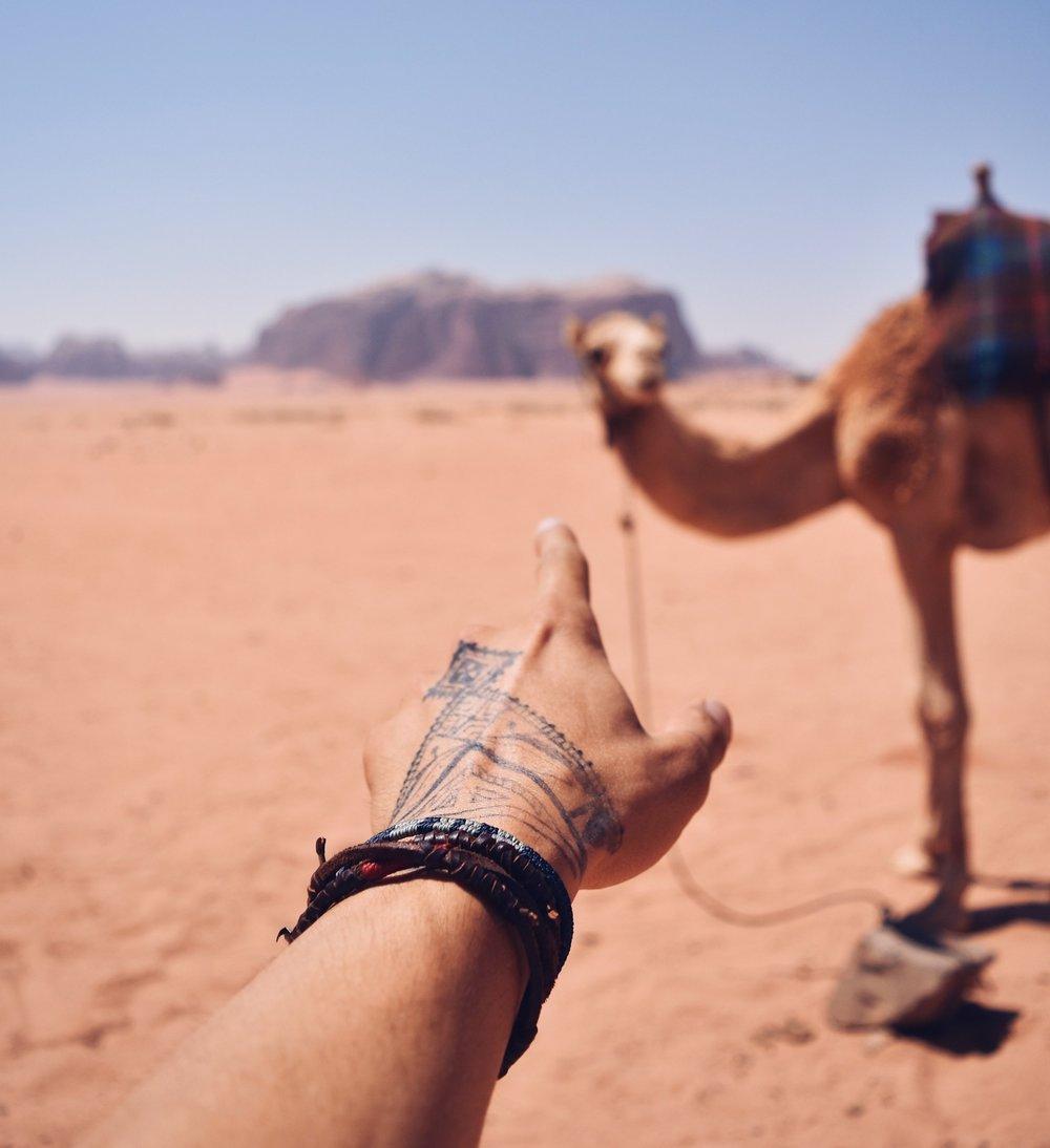 Wadi Rum via Camel -