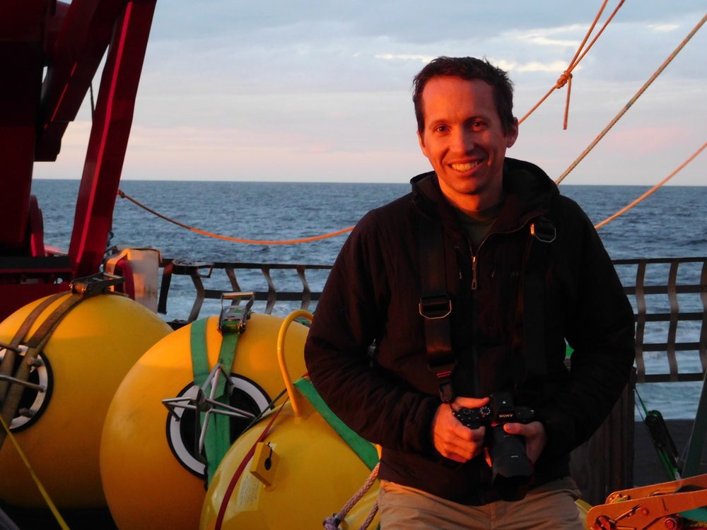 Andrew McDonnell aboard the R/V  Sikuliaq .