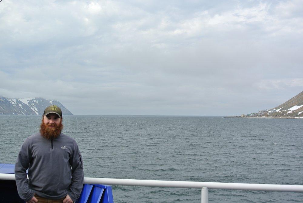 Zane Chapman aboard the R/V  Sikuliaq .