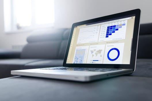 Statistics on laptop