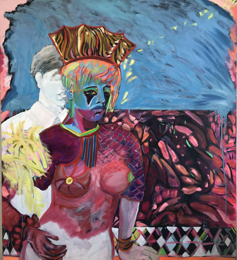 Marie Peter-Toltz, Centauresse, Née des Océans, 2017, oil on canvas, 54 x 48 inches (Courtesy of the Artist and Nanda/Hobbs Contemporary, Australia).
