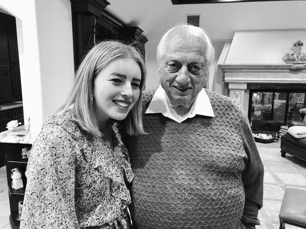 Author with her grandfather Tommy Lasorda