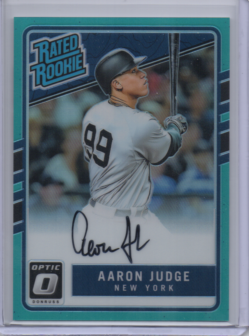 2017 Donruss Optic Aaron Judge RR Auto Aqua /125