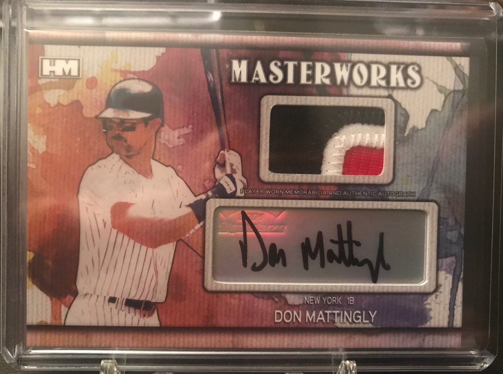 2017 Hits Memorabilia Fully Loaded Don Mattingly Masterworks Patch Auto 3/3