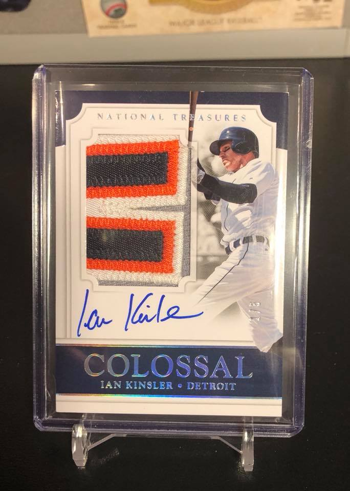 2017 Panini National Treasures Ian Kinsler Colossal Patch Auto #1/5