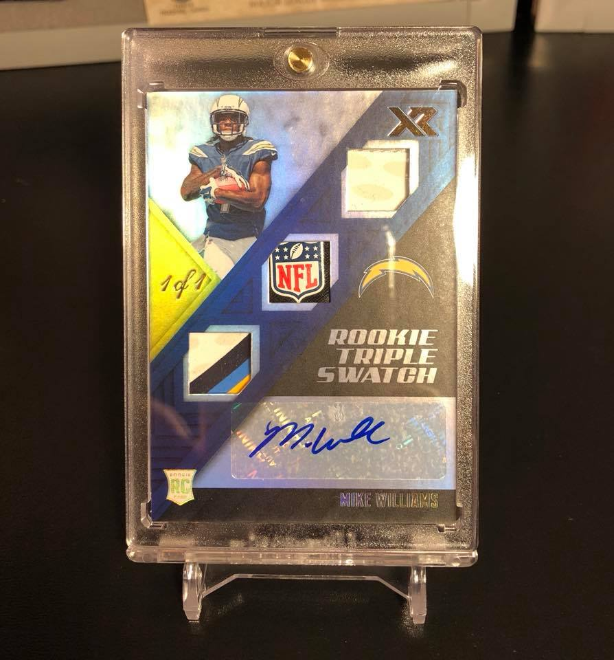 2017 Panini XR Mike Williams Rookie Triple Swatch Auto 1/1