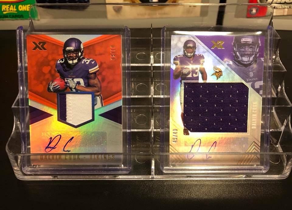 2017 Panini XR Dalvin Cook Rookie Patch Auto /10 & Jersey Auto /49