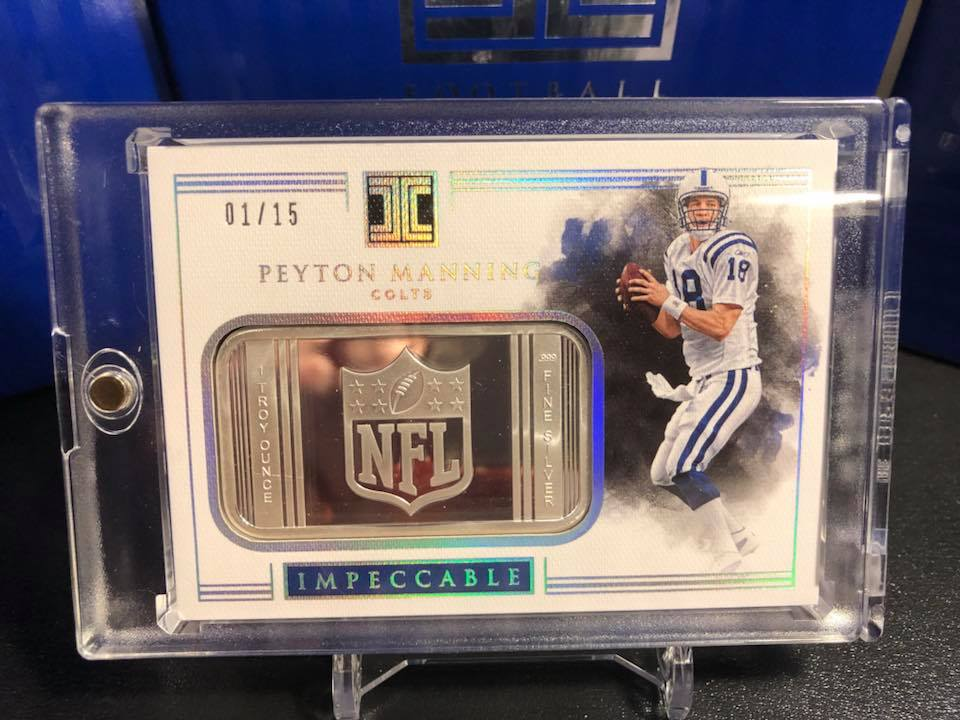 2017 Panini Immaculate Peyton Manning Silver NFL Shield #01/15
