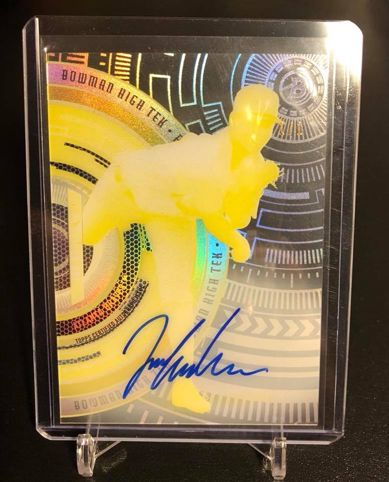 2017 Bowman High Tek Printing Proofs Ian Anderson Auto 1/1