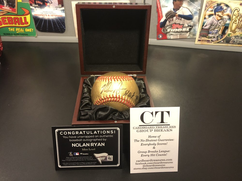 2017 Fanatics Underwraps NXTLVL Nolan Ryan Mint Level 24K Gold Leather Signed Baseball