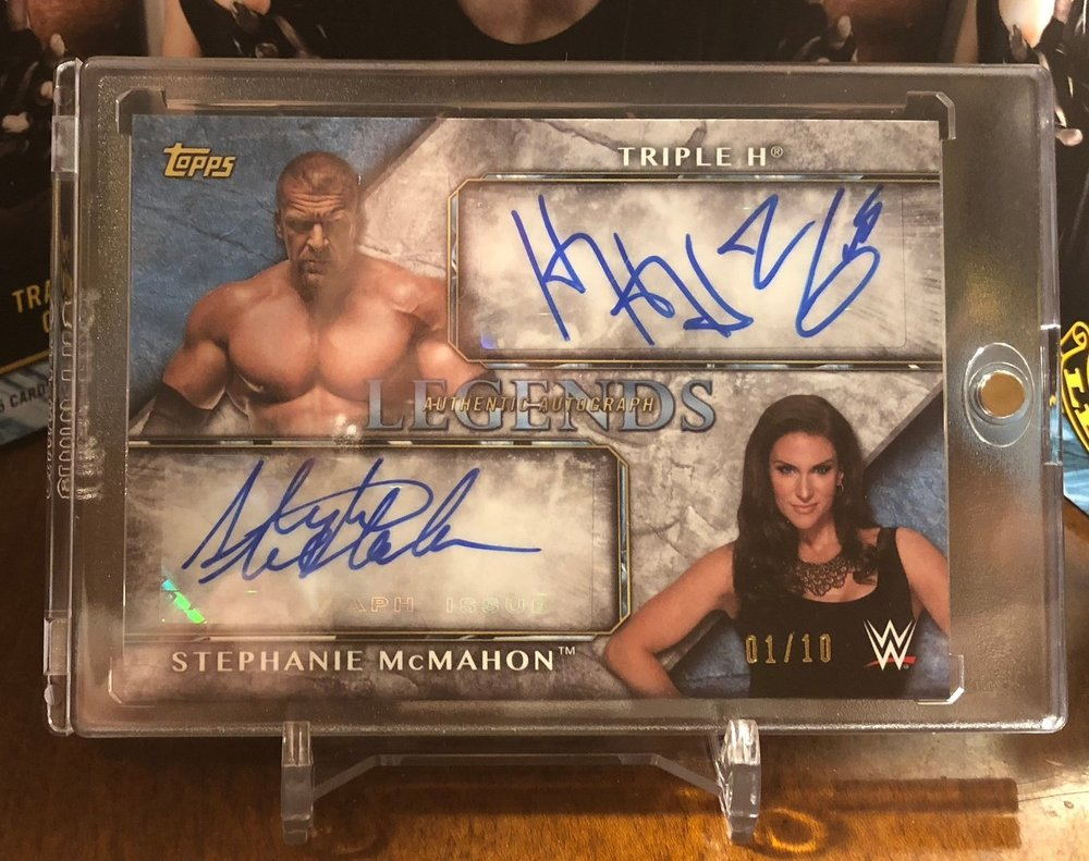 2017 Topps Legends of WWE Triple H/Stephanie McMahon Dual Auto 01/10