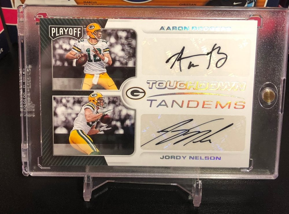 2017 Panini Playoff Aaron Rodgers/Jordy Nelson Touchdown Tandems Dual Auto /10