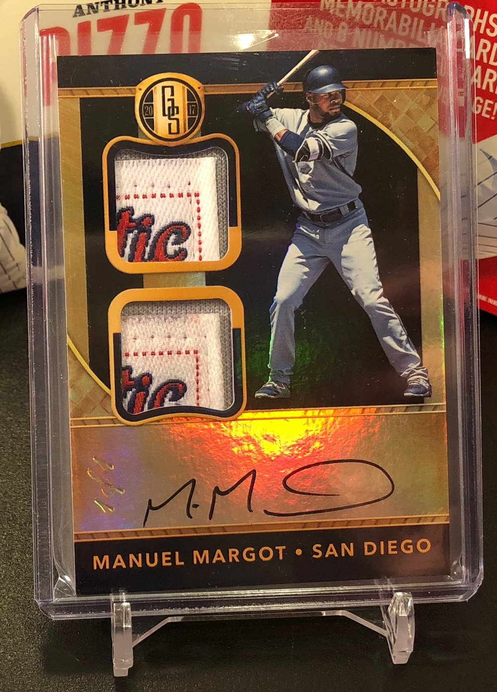 2017 Panini Chronicles Manuel Margot Gold Standard Dual Prime Tags Auto 1/1