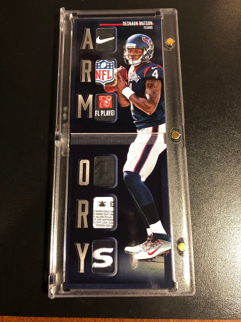 2017 Panini Preferred Deshaun Watson RC Armory Booklet Platinum 1/1