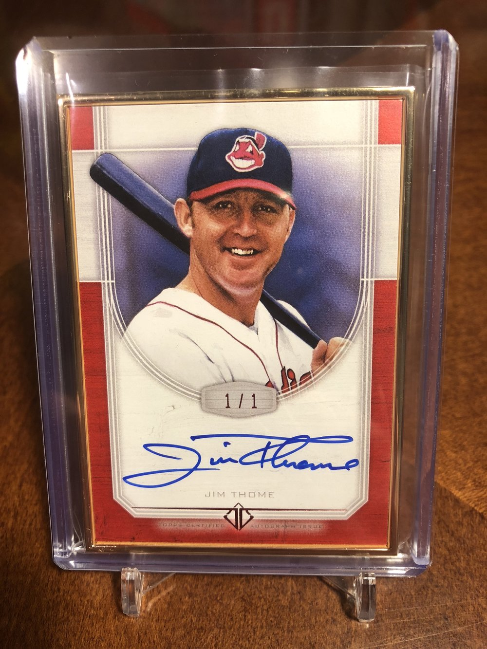 2017 Topps Transcendent Jim Thome Auto Red 1/1