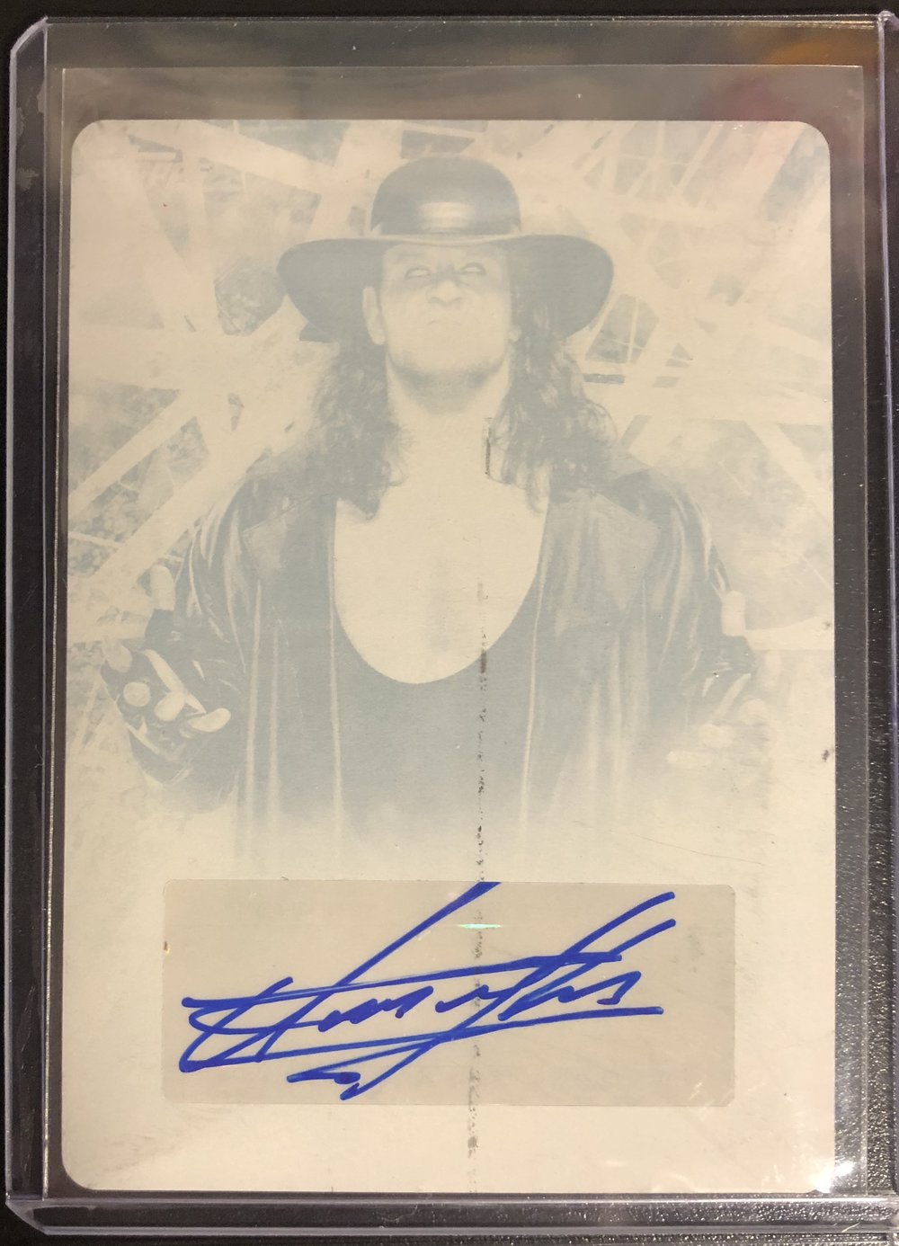 2018 Topps WWE Road to Wrestlemania The Undertaker 1/1 Printing Plate Auto