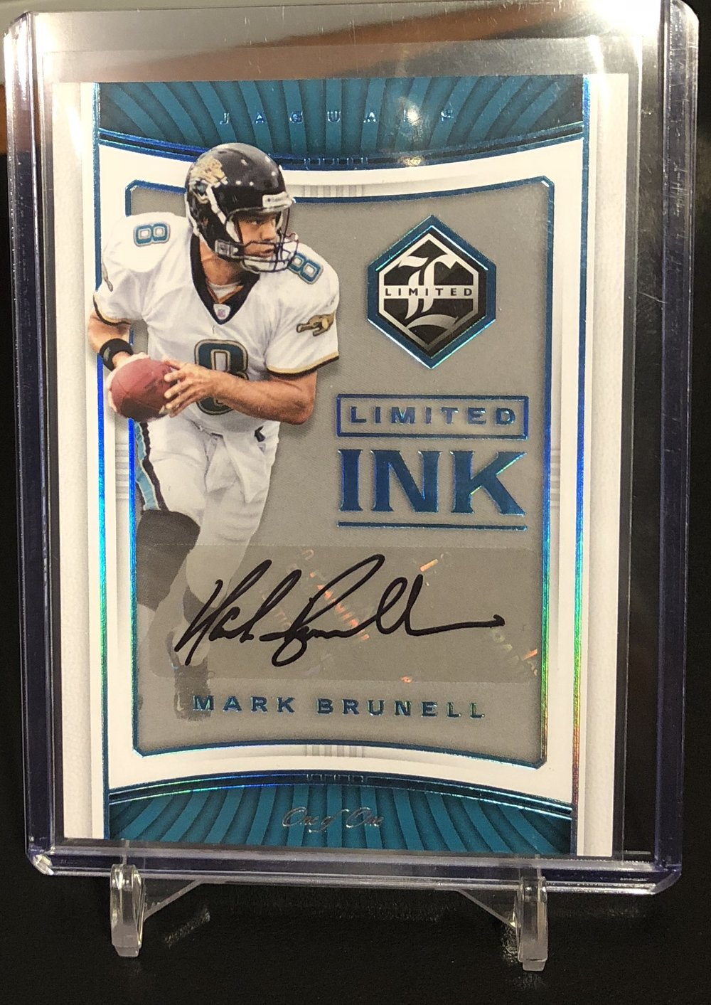 2017 Panini Limited Mark Brunell Limited Ink Auto Platinum 1/1