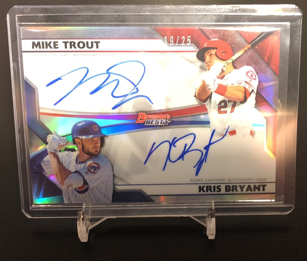 2017 Bowman's Best Mike Trout/Kris Bryant Dual Auto 19/25